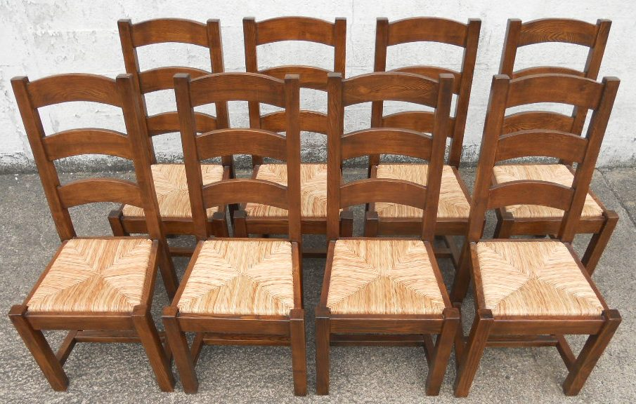 Ladderback Side Chair With Rush Seat Ladder Back Dining